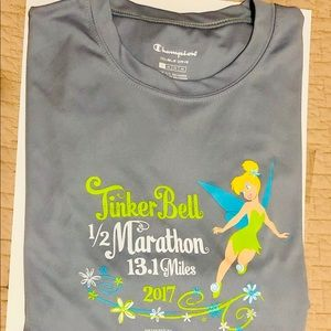 Disney Run Tinkerbell 1/2 Marathon Running Shirt